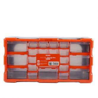 12 Compartment Multi Bin Storage Box Drawer Plastic Parts Storage Hardware and Craft Cabinet