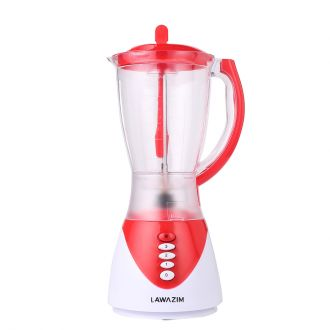 2-in-1 Two Speed Food Blender & Ice Crusher 300W 1.5L Jug with Coffee Grinder Red
