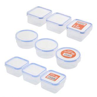 9-Piece Plastic Airtight Container Storage Box Set
