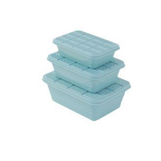 3-Piece Plastic Container Storage Box Set