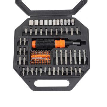 83-Piece Ratchet Driver and Socket Bit Set